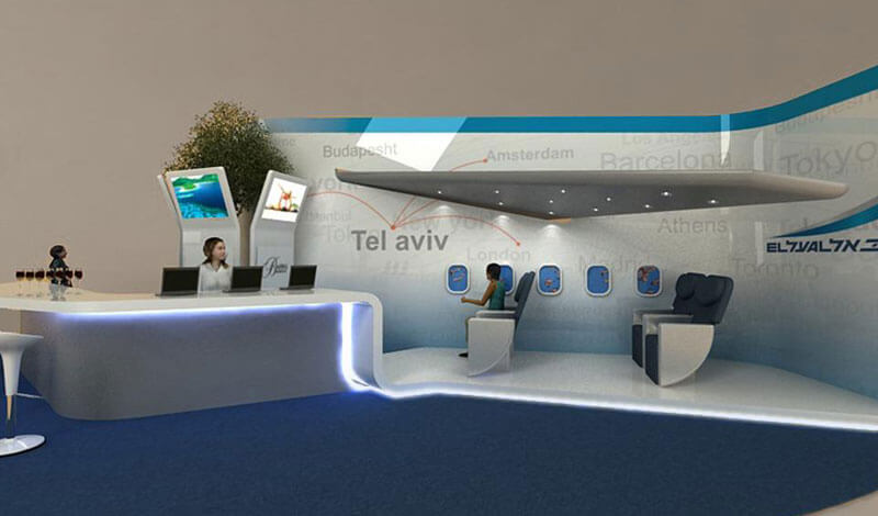 El Al Airlines Booth | Interior Design | Galia Design   Industrial Design  Based In Los Angeles