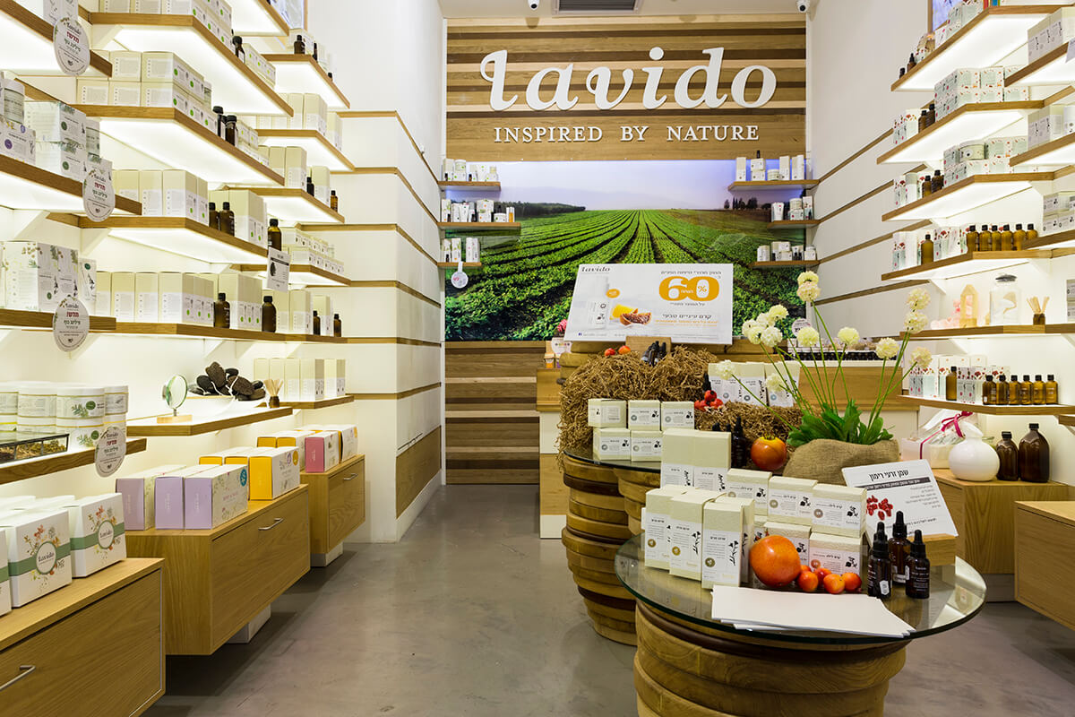 Lavido Natural Cosmetics Store | Interior Design | Galia Design ...